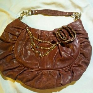 Junior drake leather purse with chain +flower